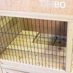 Clapier ANNA en bois, 100x55x100 cm, Ecurie de lièvre