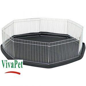 VivaPet petit octogone 8-côtés Run Pen Cage pour Hamster / Guinée / porc / chat / chaton / bébé lapin. 83cm de diamètre, 23cm de hauteur.