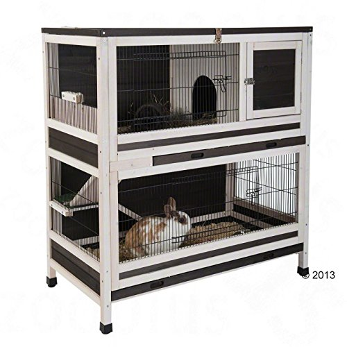 Lounge Small Pet Cage Cage 2étages d'intérieur pour petits animaux cochons-d'Inde et lapins en épicéa