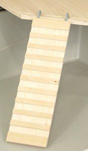 Petgard Rongeurs Cage Accessoires étages Set siège en bois | Plateforme Ecki 25cm ecketage + Wega 23cm échelle Rampe | Cage Accessoires planche + Rongeurs échelle Bundle pour hamster, cochon d'Inde, etc.