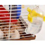 Pawaca 60ML Petite Bouteille D'eau Animale, Belle et jolie Classic Abreuvoir Bouteille de Luxe pour chiens, chats, hamsters, lapins et autres petits animaux. Sans BPA – Jaune
