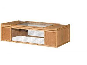 Pliante Rectangulaire 5cm lapin Run–Un Espace et sécurité pour votre petit animal à l'exercice–pliable et intégré avec Robuste européenne bois