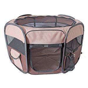 XAJGW Style Pet Stylo De Jeu Portable Pliable Chiot Chien Pet Chat Lapin Tissu Cochon d'Inde Tissu Parc Parc Caisse Cage Kennel Tente (Taille : Moyen)