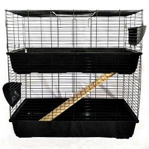 Easipet Un enclos/cage pour Lapin (intérieure) disponible en Bleu, Rose, et Noir (Noir)