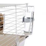 Ferplast Cavie 80 Cage Spacieuse, Système de Fermeture Sécurité, Accessoires Inclus, en Métal Vernis Gris et Plastique pour Cochons d'inde, 77 x 48 x 42 cm
