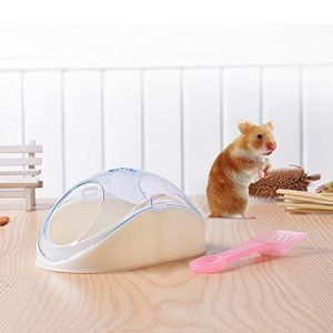 Fesjoy Hamster Bathroom Potty Sand WC Baignoire avec Pelle pour Souris Hamster et Autres Petits Animaux domestiques
