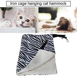 GreceMonday Chaud Hanging Lit pour Chat Mat Pet Doux Chat hamac Hiver hamac Kitten Cage lit Housse de Coussin d'air Lit-Pet Products Noir et Blanc