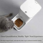 Gyfdjh Mini Chargeur Intelligent pour Animaux de Compagnie 0.017m3, Capacité Effective de 2,85 L – Petit Distributeur pour Animaux de Compagnie pour Le contrôle à Distance du téléphone Mobile WiFi,4