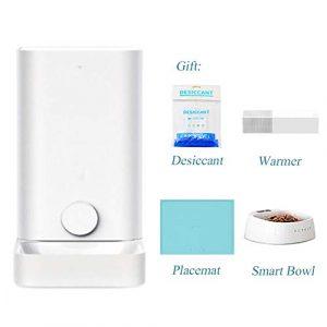 Gyfdjh Mini Chargeur Intelligent pour Animaux de Compagnie 0.017m3, Capacité Effective de 2,85 L – Petit Distributeur pour Animaux de Compagnie pour Le contrôle à Distance du téléphone Mobile WiFi,7