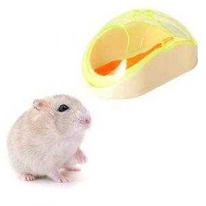 GZQ Hamster Salle de Bain, 2 pièces en Plastique Sable, Salle de Bain, Toilettes, Salle de Bain pour Hamster, Cochon d'Inde, Furet gerbillle, Chinchilla