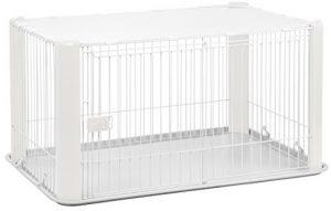 Iris Ohyama, parc pour chien / cage d'extérieur / enclos / chenil – Pet Circle – CLS-1130, plastique, blanc, 9,2 kg, 78,8 x 113 x 60 cm