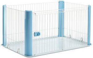 Iris Ohyama, parc pour chien / cage d'extérieur / enclos / chenil – Pet Circle – CLS-1130, plastique, bleu, 9,2 kg, 78,8 x 113 x 60 cm