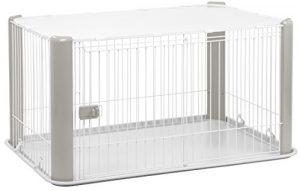 Iris Ohyama, parc pour chien / cage d'extérieur / enclos / chenil – Pet Circle – CLS-1130, plastique, gris, 9,2 kg, 78,8 x 113 x 60 cm