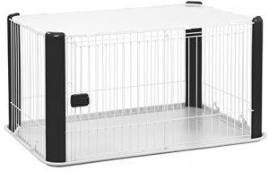 Iris Ohyama, parc pour chien / cage d'extérieur / enclos / chenil – Pet Circle – CLS-1130, plastique, noir, 9,2 kg, 78,8 x 113 x 60 cm