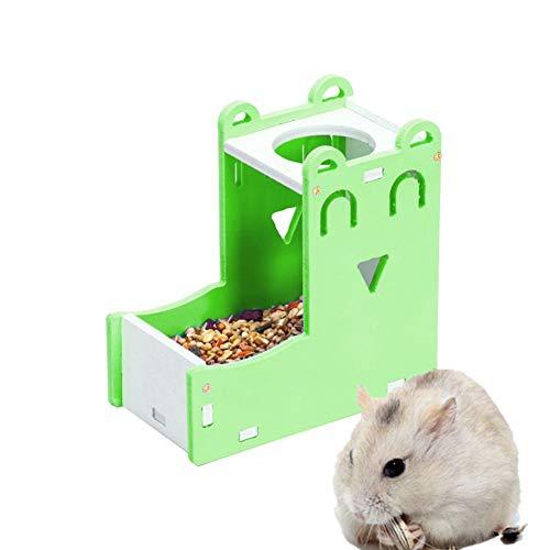 lffopt Biberon Rongeurs Distributeur De Croquettes Lapin Alimentaire Distributeur Chargeur écureuil Guinée Porc Alimentaire Bol Petit Alimentation Animale Green