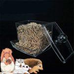 lffopt Distributeur Nourriture Lapin Distributeur De Croquettes Lapin Alimentaire Bol Guinée Porc Alimentaire Bol Hamster Cage Bol