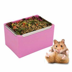 lffopt Foin pour Lapin Nourriture Lapin Foin de Lapin Titulaire Hamster Alimentaire Bols d'alimentation pour Animaux de Compagnie Bols Lapin Accessoires Pink