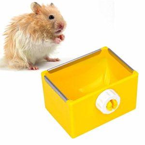 lffopt Foin pour Lapin Nourriture Lapin Foin de Lapin Titulaire Hamster Alimentaire Bols d'alimentation pour Animaux de Compagnie Bols Lapin Accessoires Yellow