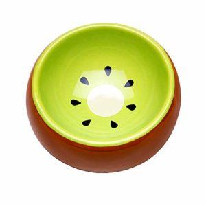 Liyanan Hamster Bowl Ceramic, Empêchez Les renversements de Mouvement et de Mastication Merveilleux Plat de Cuisine pour Petits rongeurs Hamsters Souris,Kiwifruit