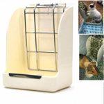 LuuBoes Support de mangeoire Fixe pour Animal de Compagnie Petit Animal, Lapin, Cochon d'Inde, Furet et Chinchilla – Couleur aléatoire
