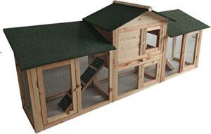 MaxxPet Warre Clapier Lapin – Cage pour Petit Animal – 204 x 45 x 84 cm