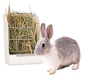 M.Q.L. Mangeoire à Foin pour Animal de Compagnie (Rabit, Cochon d'Inde, Chinchilla, Hamster), râtelier à Foin réduit Les déchets de Nourriture