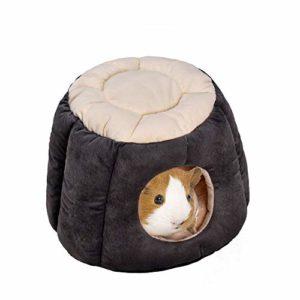 Oncpcare Chaud Cochon d'Inde Lit Trunk-Shape Lapin Maison Lit Doux Sugar Glider Nid Animal de Petite Taille Grotte Cachette pour Petits Animaux Hérisson écureuil Chinchilla
