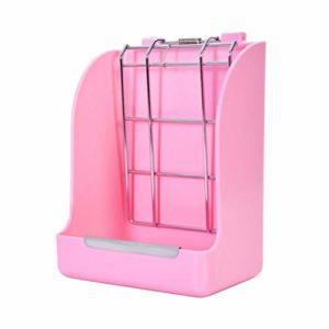 POPETPOP Cage Fixe Lapin Support Dherbe en Plastique Grand Récipient Lapin Mangeoire à Foin Petite Mangeoire pour Hamster Cobaye Lapin Chinchillas