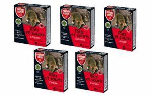 SBM Protect Expert Pack Contre Les rongeurs spécial Rats&Souris Support céréales DIF150 750g