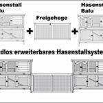 Système Clapier en Lapin spacieux/clapier Lapin extérieur Balu – imperméable – Deux etages – Nettoyage Facile – 120 x 50 x 104 cm – Taupe/Blanc – connecter et étendre Possible