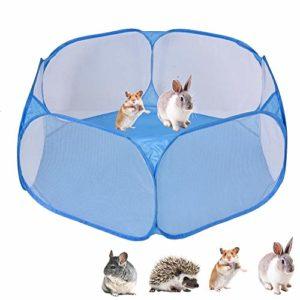 vogueyouth Parc pour Animaux de Compagnie, Tente pour Petit Animal en Cage de 100 x 38 cm, Hamster de clôture Pliante pour Exercice intérieur extérieur pour Chats Lapins de cobaye