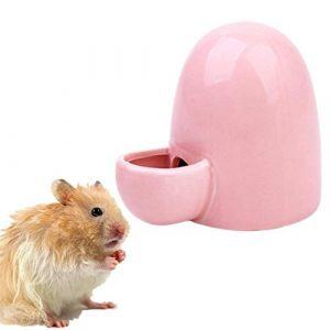 WPCASE Abreuvoir a Lapin Biberon Lapin Automatique Pet Feeder Pet Distributeur d'eau Pet Potable Distributeur Céramique Pet Alimentation Lapin Eau Feeder Pink