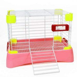 WTTTTW Cage à Lapin, clapier Lapin, Cochon d'Inde Coop House Easy Clean Démonter Couleur Rose 58 * 37 * 40 cm