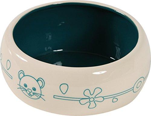 Zolux Écuelle Céramique Anti-Renversement pour Rongeur Bleu 1 L