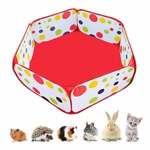 Amakunft Parc Portable pour Petits Animaux, extérieur/intérieur Pop Open Pet Exercise Clôture, Cochon d'Inde Accessoires en métal Fil de Cour Cage C&C Tente pour Lapins, Hamster, chillas et hérissons
