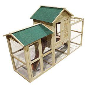 Cage pour petits animaux XXL en Bois et Grillage métallique avec large enclos Clapier à lapin