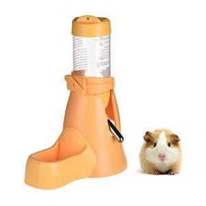 Distributeur d'eau 3-en-1 pour petits animaux: Hamster, cochon d'Inde, lapin, rat, furet, gerbille, chinchilla – 80 ml