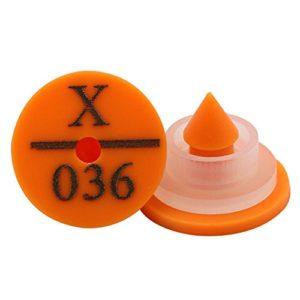 Farm & Ranch Étiquettes d'oreille de Lapin avec numéros Plastique Rond Animal Oreille Tag marqueur d'identification des Outils