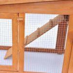 Generic * * Cabane de Lapin Clapier Petit Clapier SMA Animal Maison Tous Les Anima de Transport Poulailler avec Toit Se Pet Cage Carr Grande Lapin en Bois Neuf Rier Coop W pour Animal Domestique Cage
