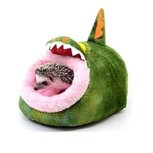Minkoll Hamac pour animal domestique, animal de petite taille Rat Maison Cochon d'Inde Lit Nest Pad Cage Hamac Hérisson écureuil (Crocodile)