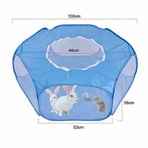 YXIAON – Clôture pliante respirante pour petits animaux – Cage pour hamster, hérisson, chat, lapin, cochon d'Inde