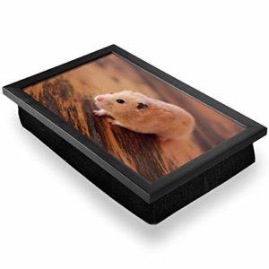 Bean Bag 24501 Plateau de luxe confortable et fonctionnel pour station de travail – Mignon blond hamster rongeur