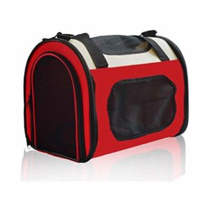 CYGJLYZ Petit Sac de Voyage Animal Sac Pet – Pet Outing Sac à Dos Pliable Tente Rongeur Sac – Porte Deux Animaux de Compagnie (Color : Red, Size : 500 * 300 * 330MM)