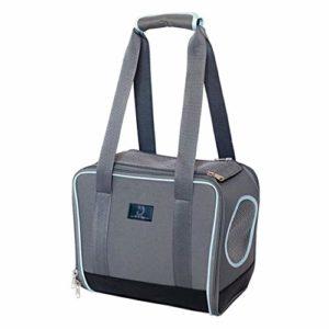 CYGJLYZ Petit Sac de Voyage Animal Sac Pet Portable Pliable Out Rongeur Sac (Color : Gray, Size : 330 * 180 * 280mm)