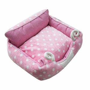 LMCLJJ Rongeur Lit for Chats ou Petits Chiens Four Seasons Universal Hiver Chaud (Couleur: Blanc, Taille: S: 45 * 38cm) (Color : Pink, Size : M)