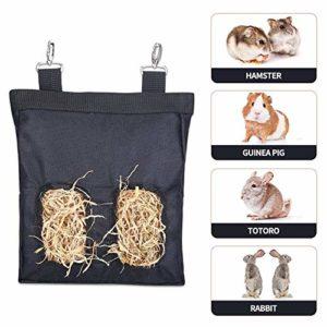 Minjie Herbivore Sacs à foin Balles à foin, mangeoires à herbivore Convient pour cochons d'Inde, chinchillas, lapin, hamsters, moutons, cerfs, alpaga, kangourou et porc-épic Herbivores