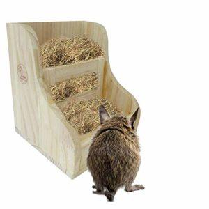 Râtelier À Foin Lapin – Bols 2 en 1 pour Animaux De Compagnie Feed Feed Et Herb Frame Frame Crop Garderelle pour Chinchilla De Cochon d'Inde Et Autres Petits Animaux