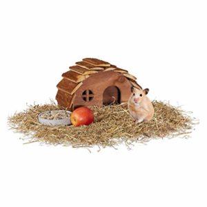 Relaxdays Cage à Hamster en Bois avec Fond et Hamster doré pour rongeurs 17 x 25 x 15 cm