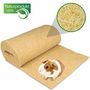 Tapis pour rongeurs 100 % chanvre sur rouleau de 5 m de longueur, 60 cm de largeur, 5 mm d'épaisseur (9,63 euros / m2) pour tous les types d'animaux de petite taille, tapis de chanvre pour rongeurs