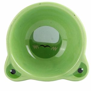 Ymiko Hamster Food Bowl Ceramic, Cartoon Animal Shape Food Water Feeding Bowls Bol en céramique pour Petits Animaux Fournitures d'alimentation pour Animaux de Compagnie(Vert)